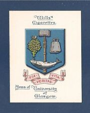 UNIVERSITY of GLASGOW UNIVERSITY  COAT of ARMS  original 1923 card