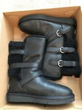 New Womens Uggs Becket Black Waterproof Boots Size 7M Reg. $225