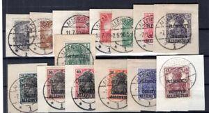 Allenstein 1/14 Set Postmarked Luxury Letter Piece (B2450