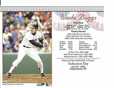 "Wade Boggs  - Boston Red Sox - Hall of Fame Supercard 8"" x 10"""