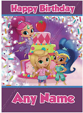 - SHIMMER AND SHINE JEWEL TIME - IDEAL FOR DAUGHTER NIECE SISTER BIRTHDAY CARD
