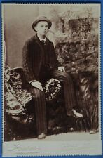 Cabinet Photo Young Man Hat Striped Suit Powers Cape Girardeau MO 1890s