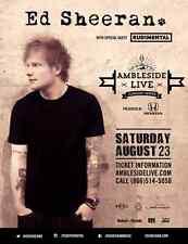 ED SHEERAN/RUDIMENTAL 2014 VANCOUVER CONCERT TOUR POSTER-Pop,Acoustic,Folk Music