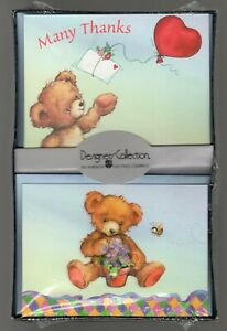 Teddy Bear Note Cards 16 Ct Thanks Petite Designer Collection American Greetings