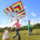 Spring Kids Interactive Multitailed Triangle Kites Rainbow Color Flying Toy'