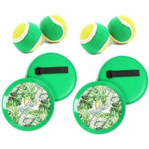 Tropical Paddle Catch Ball and Toss Game (2 Sets)