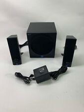 Black Yamaha YST - MS201 Powered Multimedia Speakers with Adapter - Fully Tested