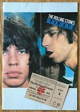 Rolling Stones  UK 1976 Black & Blue  Programme + Ticket   Earls Court, London