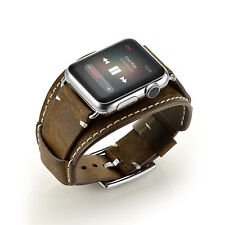 Apple iWatch Band Soft Genuine Leather 42mm Bracelet Wrist Strap Series 1 2 3