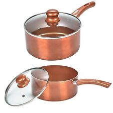 2 PC URBN-CHEF Saucepan Ceramic Copper Induction Cooking Kitchen Cookware Set