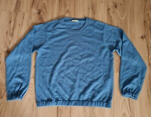 Closed Damen Langarm Pullover Sweatshirt In Blau Gr.L Gr.40 Wolle/Kaschmir