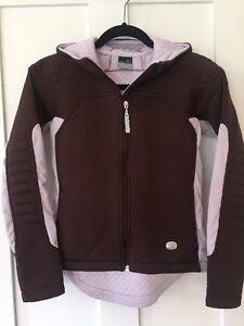 Women's Nike Sphere Thermal Full Zip Hooded Jacket, Brown, Extra Small, ECU