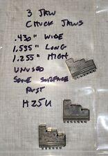 Possibly Craftsman Dunlop Atlas 109 Lathe 3 Jaw Chuck External Jaw Set H25u