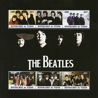 Chad 2017 CTO The Beatles John Lennon Paul McCartney 6v M/S Music Stamps