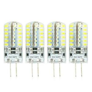 4pcs G4 3014SMD 5W 48 LED Crystal Lamp Light Bulb Chandelier 12V DC Cool White