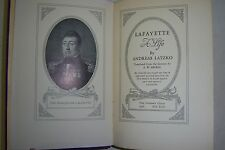 LAFAYETTE  A Life. By Andreas Latzko. 1936 First Edition