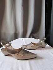 chaussures requins cuir cuivré/argenté 38