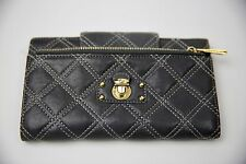 Marc Jacobs gray leather quilted clutch