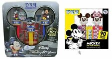 MICKEY MOUSE 80TH & 90TH ANNIVERSARY TIN AND BOXED SETS! - 5 PEZ TOTAL!