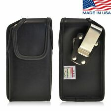 Turtleback iPhone 6 Leather Pouch Holster Metal Clip Case with Headphone Access
