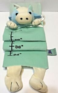 Emily Toys Plush Growth Chart with Photo Inserts Giraffe Green and Blue Hanging