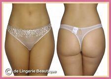 Ladies sheer lace thongs. Skin, White, Blue, Brown, Mint, Pink, Size 8-20
