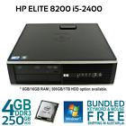 HP Compaq 8200 Elite SFF Desktop Core i5 2400 3.1GHZ 4G 250G Win 7 Pro KB mouse
