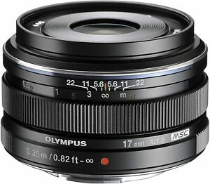 Olympus M.Zuiko Digital 17mm 1.8 - M43 MFT Micro Four Thirds  Lens - Silver