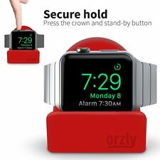 Night-Stand For Apple Watch 38mm & 42mm Holder Stand Cradle Red by Orzly®