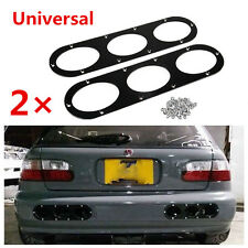 2 Pcs Black Aluminum Rear Bumper Race Air Diversion Diffuser Panel For Car SUV