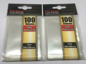 200 Sleeves Pro Game PROTECTOR Side Perfect Fit 64mm*89mm Soft Protector New