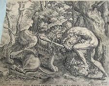 HERKULES MIT DEM LÖWEN HERCULES LION C.CORT FRANS FLORIS GOLTZIUS 1563