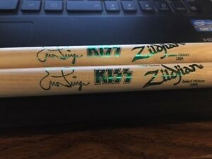 Green Kiss Eric Singer Signature Stage Drumsticks End of the Road Tour