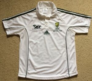 037 New Small Mens Cricket Australia Official Tour Shirt West Indies 2008 Adidas