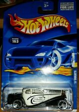 2001 Hot Wheels '37 Bugatti - White and Black Classic - Collector #163