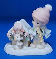 Minnie Mickey Donald Pluto Magic Season Disney Precious Moments Figurine 710050