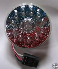"""4"""" ROUND US~FLAG~RED~LED~LIGHTS~SEMI~BOAT~JEEP~SHOW~TRUCK~TOW~TRAILER~CAR~CYCLE"""