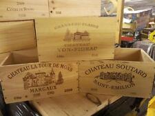 9 x Genuine Francese in legno vino CRATE / PARALLELEPIPEDO / FIORIERA ostacolare CASSETTI / Storage