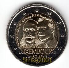 NEW !!! 2 EURO COMMEMORATIVO LUSSEMBURGO 2020 Henri Orange Nassau !disponibile!