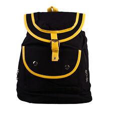 Cheap Women Bag Canvas Satchel Schoolbag Backpack Shoulder Bag Black UKLT