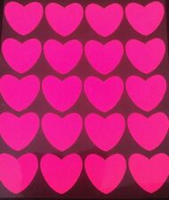 Hotfix iron on transfers 20 neon pink 2cm hearts
