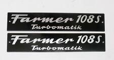 FENDT Schild Motorhaube  Farmer 108 S Turbomatik  Alu geprägt