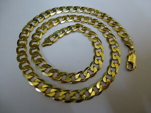 """Stunning 9ct Gold 21"""" Curb Chain - Fully hallmarked -"""
