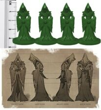 D&D RPG Fantasy Miniatures Unpainted Cultist Miniatures x 4 Green