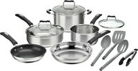 Cuisinart 12-Piece Cookware Set - Stainless Steel - P87-12 Brand New - Free Ship