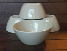 Set of (4) Crate & Barrel SAGE GREEN Coupe Cereal Bowls - Made in Thailand