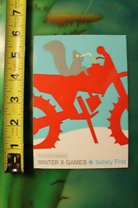 Winter X-Games Mountain Snow Bike Squirrel Gas Ski Skiing Snowboarding STICKER