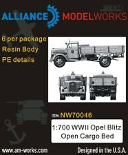 Alliance Model Works 1:700 WWII German Opel Blitz Open Cargo Bed (6pcs) #NW70046