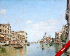 THE GRAND CANAL IN VENICE ITALY LANDSCAPE PAINTING ART REAL CANVAS PRINT
