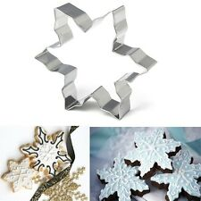 3PCS Xmas Snowflake Biscuit Cookies Mould Cake Fondant Decorate Cutter Mold Tool